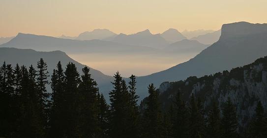 Points sur la chaîne montagneuse