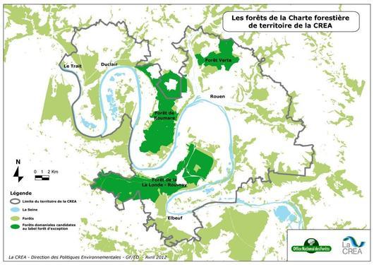 Carte des 3 forêts