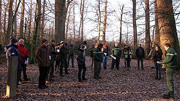 Le comité national d'orientation en déplacement en forêt domaniale de Tronçais en janvier 2017