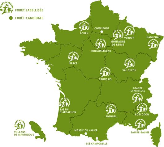 Les forêts du réseau Forêt d'Exception®