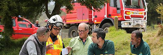 Pour cet exercice, l'ONF a mobilisé un ouvrier patrouilleur DFCI et deux agents du pôle risques naturels
