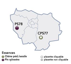 Renecofor - placettes - Ile de France