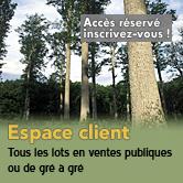 Filière bois : accès à l'espace clients