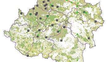 Carte du réseau de surveillance vigies et caméras thermiques en Castilla y Léon
