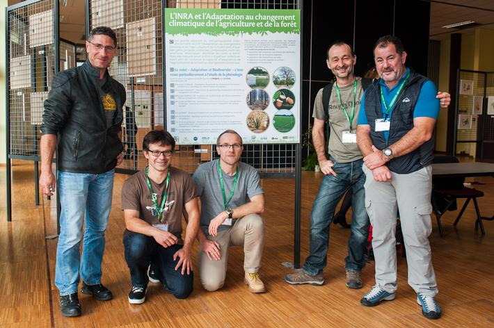 """Five of the nine authors of the book """"Plants throughout the Seasons"""" were present at the colloquium"""
