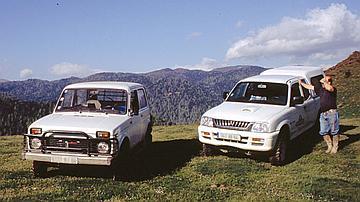 Les 4x4 sont surtout utilisés en montagne, pour emprunter les pistes