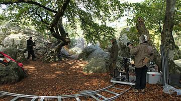 Un tournage en forêt