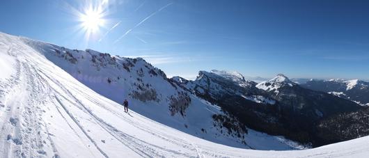 Le massif sous la neige