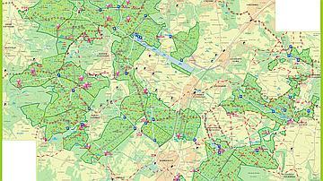 Carte des équipements en forêt