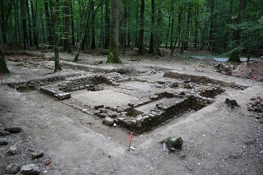 Un chantier de fouilles