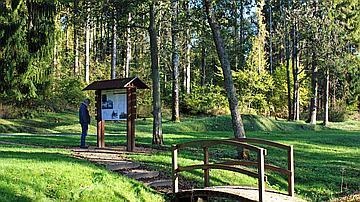 Panneaux d'accueil en forêt domaniale de Verdun