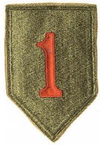 Blason de la première division d'infanterie de l'armée américaine (Big Red One)