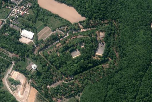 Illustration aérienne du fort de Montlignon