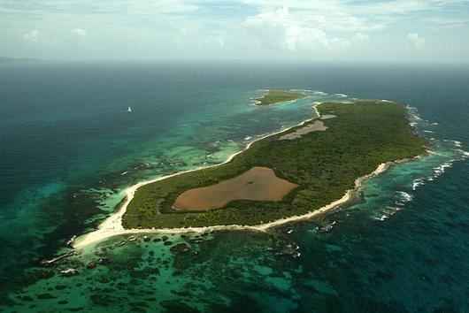 Vue aérienne des îlets de Petite Terre