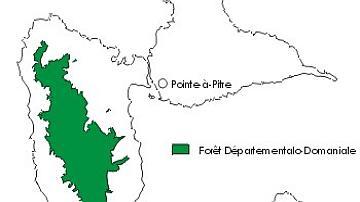 Carte de situation de la forêt départementalo-domaniale