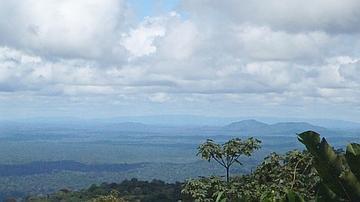 Vue sur la plaine de la Waki, avec, au second plan, les monts Apitiri