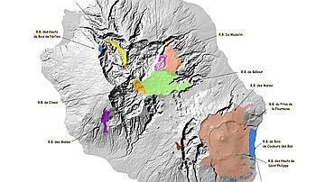 Carte des réserves biologiques
