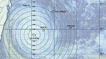 Cette carte cyclonique permet de localiser d'heure en heure le phénomène