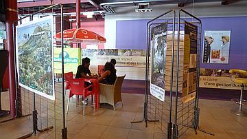 L'exposition de l'ONF au Cinépalmes est prête pour accueillir ses nombreux spectateurs