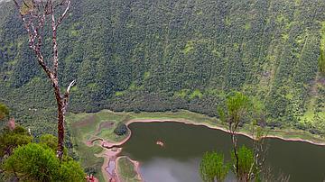 Vue plongeante sur Grand Etang, dans les hauteurs de la Plaine des Palmistes
