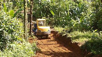 Ouverture de piste en forêt d'exploitation