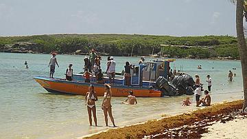 Vue de la plage de Petit Terre