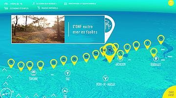 Web documentaire du GIP littoral aquitain.