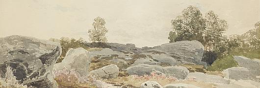 Le chemin au milieu des rochers