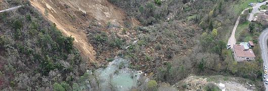 Le glissement de terrain