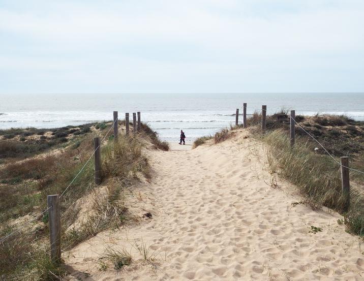 Respecter les accès et sentiers autorisés aide à préserver les dunes...