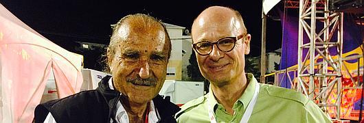 Robert Chicaud, président du Grand Raid, et Sylvain Léonard, directeur régional de l'ONF