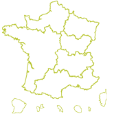 Carte des directions territoriales