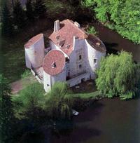 Vue aérienne du château de la chasse
