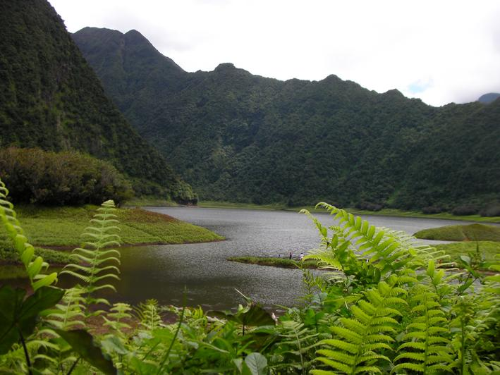 Le Grand étang a été formé par une coulée de lave volcanique traversant la vallée