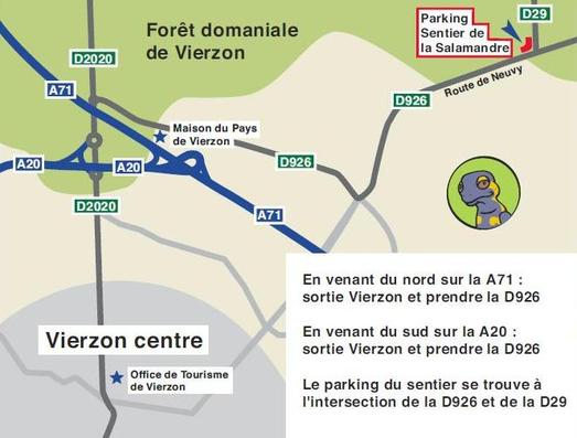 Carte de situation du point de départ du sentier
