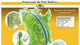 Sur le parking du Petit Barbeau, une carte présente le parcours