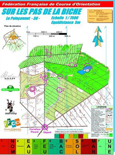 Vous localiserez les 7 bornes posées en forêt grâce à la carte et votre sens de l'orientation