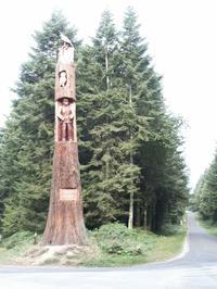 Sculpture d'un séquoia géant