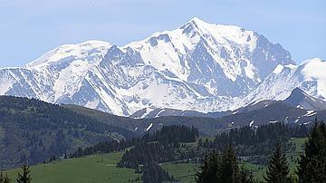 Le massif du Mont-Blanc (Haute-Savoie)