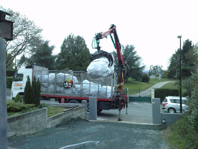 Camion de livraison en big bag (ONF Corbin)