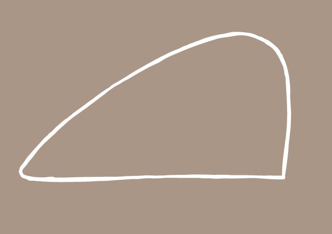 Dessiner la forme du corps comme une montagne