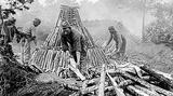 Les besoins en charbon de bois sont très importants tout au long de la guerre (Pourcy, Marne)