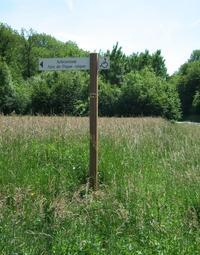 La signalétique a été réalisée par l'atelier bois ONF de Lorraine