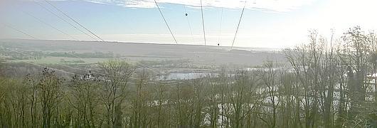 Ligne 225 kV en surplomb