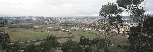 Point de vue sur Carcassonne depuis le Pech Mary