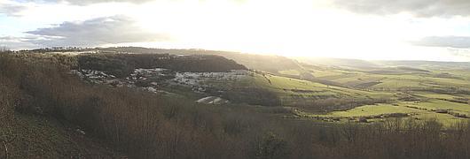 Vue générale sur la colline (côté de Saxon-Sion)