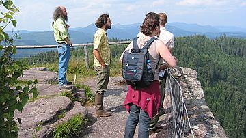 Les acteurs du projet visitent le site de la Chatte pendue