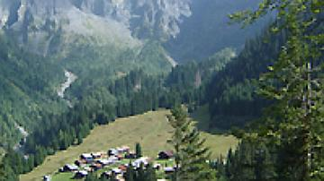 Le village des Fonds - Forêt communale de Sixt Fer à Cheval  (Haute-Savoie)