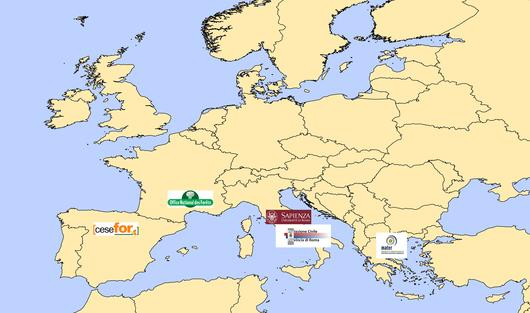 Carte de localisation des partenaires du projet